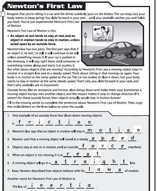 Laws Of Motion Worksheets - Rringband